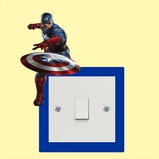 Captain America light switch stickers  - Wall Art Decal Stickers Quality New