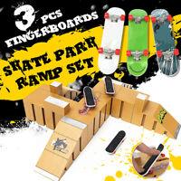 Fashion Skate Park Ramp Parts for Tech Deck Fingerboard Finger Board Christmas