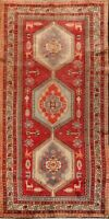 Excellent Vintage Tribal Ardebil Hand-Knotted Geometric Runner Rug Oriental 5x10