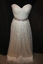 NWT Size 6 Ivory ALL lace sweetheart informal bridal gown wedding dress
