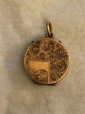 Antique Victorian 10K Yellow Gold Locket Pendant