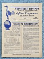1959 - TOTTENHAM v MANCHESTER CITY PROGRAMME - FIRST DIVISION - 58/59
