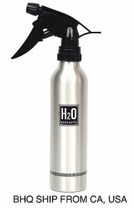 Aluminum Spray Water Bottle (Silver)