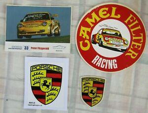 Porsche Race Team Camel Racing 1970s Peter Fitzgerald 2003 Stickers