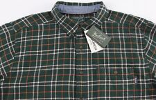 Men's WOOLRICH Green Plaid Flannel Cotton Shirt 2XL NWT NEW