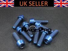Componentes y piezas azul titanio para bicicletas