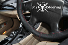 PERFORATED LEATHER STEERING WHEEL COVER FOR MITSUBISHI MONTERO 3 D RED DOUBLE ST