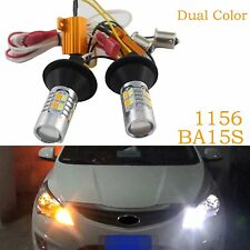 2X 1156 BA15S 20-LED Car Dual Farben Switchback DRL Blinkleuchte Tagfahrlicht