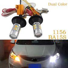 1156 BA15S 20-LED Car Dual Farben Switchback DRL Light Blinkleuchte Tagfahrlicht