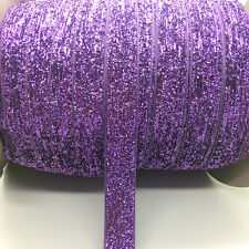 "5yds 5//8/""16mm Vintage Glitter Velvet Ribbon Headband Clips Bow Wedding Craft #22"