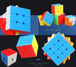 2-5 Level Magic Puzzle Cube Super Smooth Fast Speed Rubix Rubik Cube No Sticker