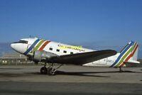 PHOTO  AIR ATLANTIQUE DAKOTA AT BLACKPOOL AIRPORT 1982