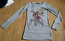 GORGOUS Gris Glamour Muñecas Camiseta De Manga Larga Vestido Talla 12