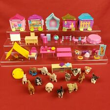 Puppy in My Pocket Flocked Dog Lot Pony Tiger Houses and Accessories
