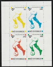 ISO (Sweden) 7501 - 1982 FOOTBALL WORLD CUP perf sheetlet of 4 u/mint