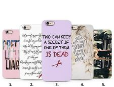 Pretty little liars PLL Tv series teen  drama quotes Phone case cover for Iphone