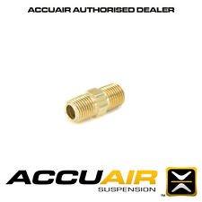 "ACCUAIR FT-S-14PM-14PM BRASS STRAIGHT FEMALE COUPLING 1/4"" NPT TP 1/4"" NPT"