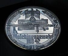 GERMANY WW2 HUGE 50mm MEDAL 1939 - 1945 Mauser Machine gun MG-42 WWII Medaille