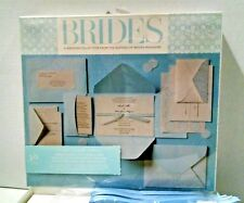 Gartner Blue Ivory Premium Embellished 30 Invites Bride's Magazine Wedding Kit