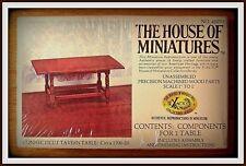 RARE DOLLHOUSE HOUSE OF MINIATURES CONNECTICUT TAVERN TABLE, ANTIQUE REPLICA