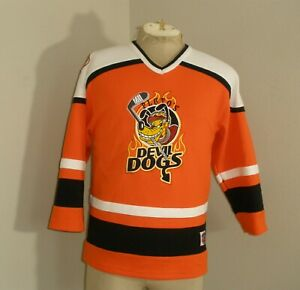 Pluto's Devil Dogs Hockey Jersey Disneyland Resort Shirt Youth Boys XL 14-16