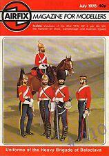 AIRFIX Magazine for Modellers July 1978 - 2 PDR QF Mk VIII Naval Gun SCALE Dwng