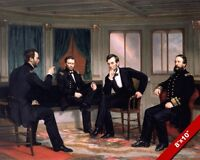 ABRAHAM LINCOLIN & PEACEMAKERS CIVIL WAR PAINTING CANVAS GICLEE 8X10 ART PRINT
