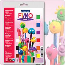 FIMO Soft Basic Set - 9 x 25g Blocks + Varnish,Tool,Mat
