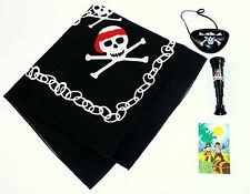 Boys PIRATE BANDANA eye patch telescope notebook SET Party bag toy gift costume