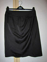 """M&S Limited Collection Black Skirt with Diagonal Pleats Size 10 Length 22"""" BNWT"""