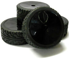 180103 1/8 Scale On Road Buggy RC Wheels and Tyres Disc Black x 4