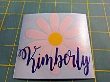 Custom Monogram Daisy Vinyl Decal for Yeti Rambler RTIC Ozark Trails,Tumbler