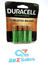 4-Pack Duracell AA Rechargeable 2500mAh NiMH Batteries DX1500 - NEW