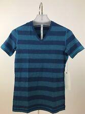 NWT Lululemon Men's 5 Year Basic T Shirt V Neck Macro Micro Blue Sz S