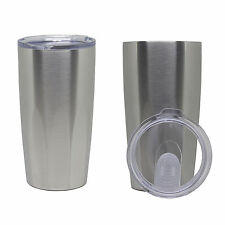 Insulated Stainless Steel 20 oz. Travel Beverage Tumbler Thermos Cup Mug, 2 Pack