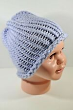 Lilac Lavender Purple Hand Knit Hat Beanie Toddler Boy Girl Child 100% Acrylic