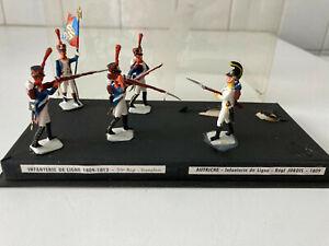 MDM : diorama 5 figurines : grenadiers du 30é rgt contre autrichiens rgt Jordis