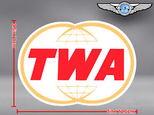 TWA TRANS WORLD AIRLINES LOGO CUT TO SHAPE DECAL / STICKER