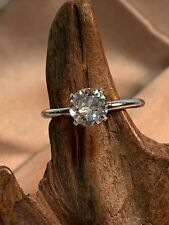 Engagement Cocktail Cz Ring Uncas Silver Tone Aniversary