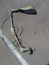 INDUSTRIAL VINTAGE Green SIDE MOUNT LAMP STEAMPUNK MACHINE AGE ANTIQUE  eames