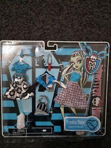 BNIB Monster High Doll Frankie Stein Fashion Pack clothes My Wardrobe and I set