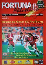 Programm 1996/97 Fortuna Düsseldorf - SC Freiburg