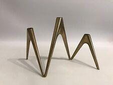 Design Kerzenständer 50er 60er Modern Candlestick 50s 60s Brass Messing Germany