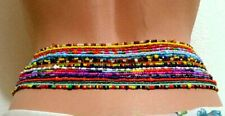 Bohemian Colorful Double Row Beads Body Chains Belly Waist Beach Chains JeweEkh