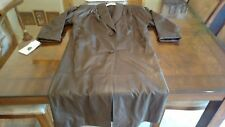 Ladies Leather Trench Coat Jacqueline Ferrar New w Tags Brown Petite Small