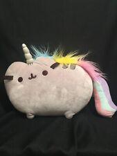 """✨ GUND Pusheen Pusheenicorn Rainbow Cat 13"""" Stuffed Animal Plush EUC ✨"""