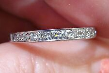 Pave DIAMOND Wedding or Annivesary  Band 18K WG New 2 Available