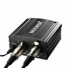 Neewer 1-Channel V 20 Phantom Alimentatore Nero con adattatore e un audio XLR C