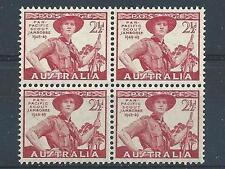 Australia 1948 Sc# 216 Scout in uniform Jamboree block 4 MNH