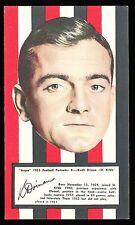 1953 Argus Football Portraits St Kilda Keith Drinan card no 8